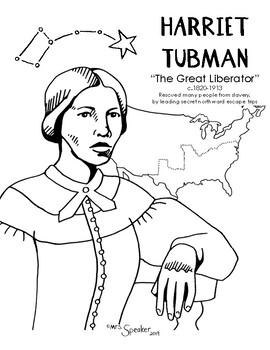 Detailed Hand Drawn Portrait Of Harriet Tubman Also Depicts The Contextual Attributes The Nor Harriet Tubman Harriet Tubman For Kids Harriet Tubman Activities