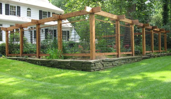Wood Wire Fenced UP Garden Area | Gardening | Pinterest | Wire fence ...