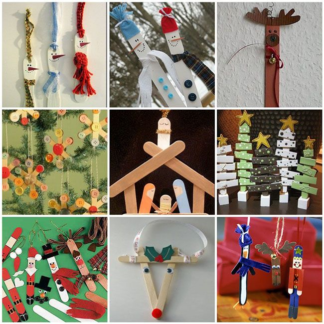 Adornos de navidad con palitos petit pinteres - Manualidad ninos navidad ...