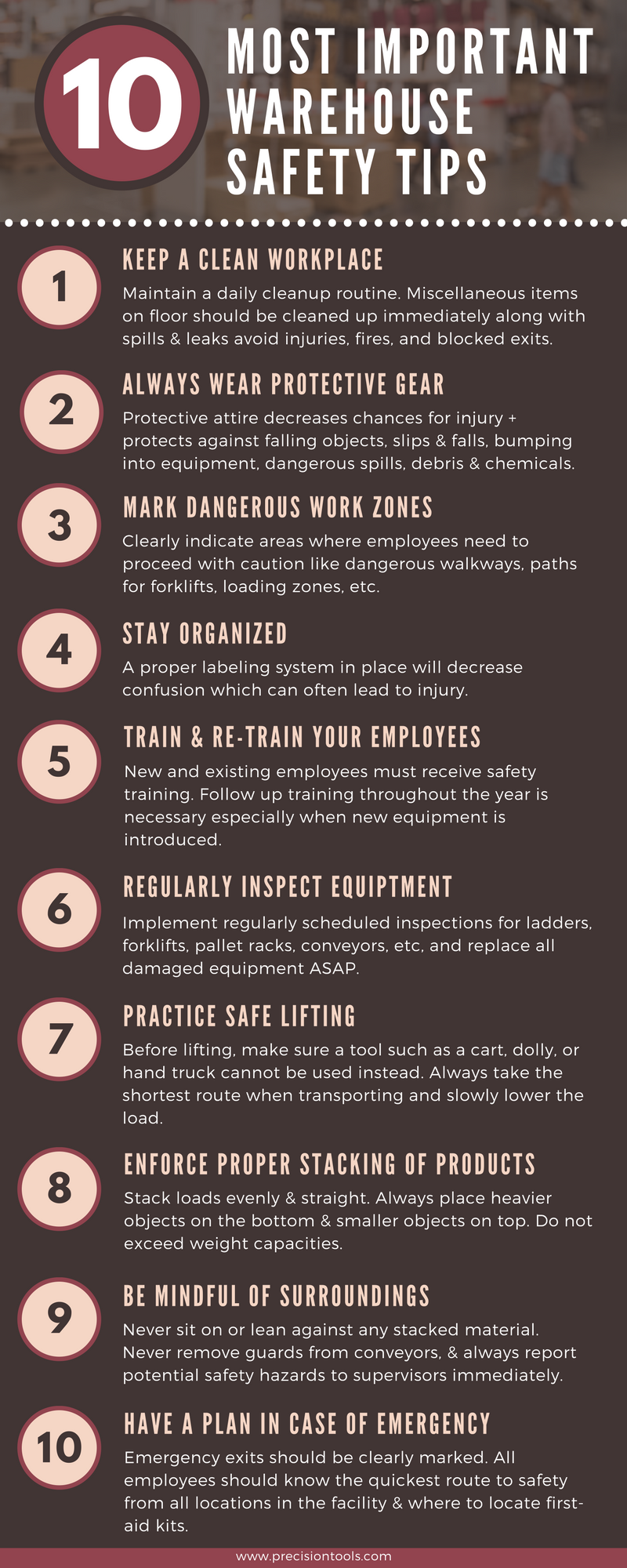 Warehouse Safety Tips Safety tips, Safety, Tips