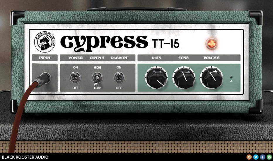 Free Cypress Tt 15 Guitar Amp Vst Au Plugin By Black Rooster Audio Audio Guitar Amp Black Rooster