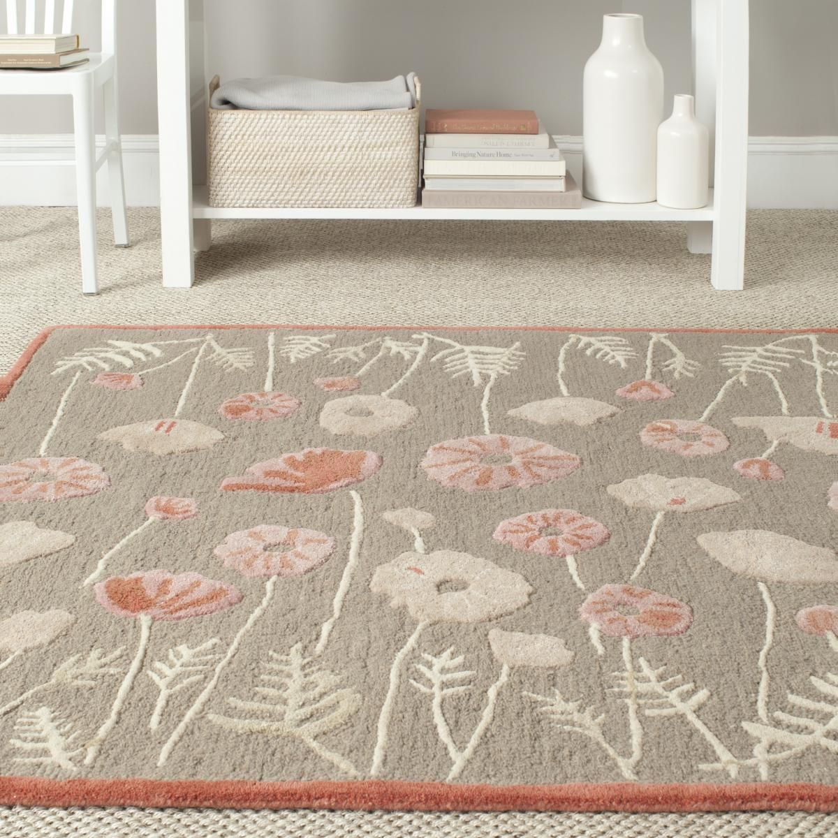 Rug Msr3627b Poppy Glossary Martha Stewart Rug Collection Color Cayenne Red Red Rugs Floral Area Rugs Rugs