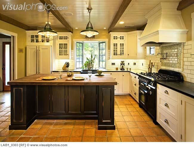 Spanish Style Kitchens | Contemporary Kitchen In Spanish Style Home