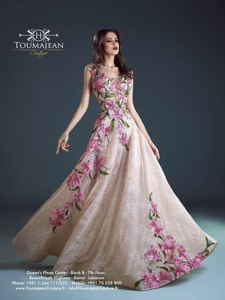 موديلات فساتين السهرة من المصمم البنانى حنا توما جان 2017 Models Of Evening Dresses From The Lebanese D Vestidos De Novia Vestido De Madrina Vestidos De Fiesta