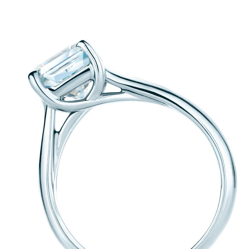 Lucida Bands: The Lucida® Diamond Engagement Ring With A Solid Band
