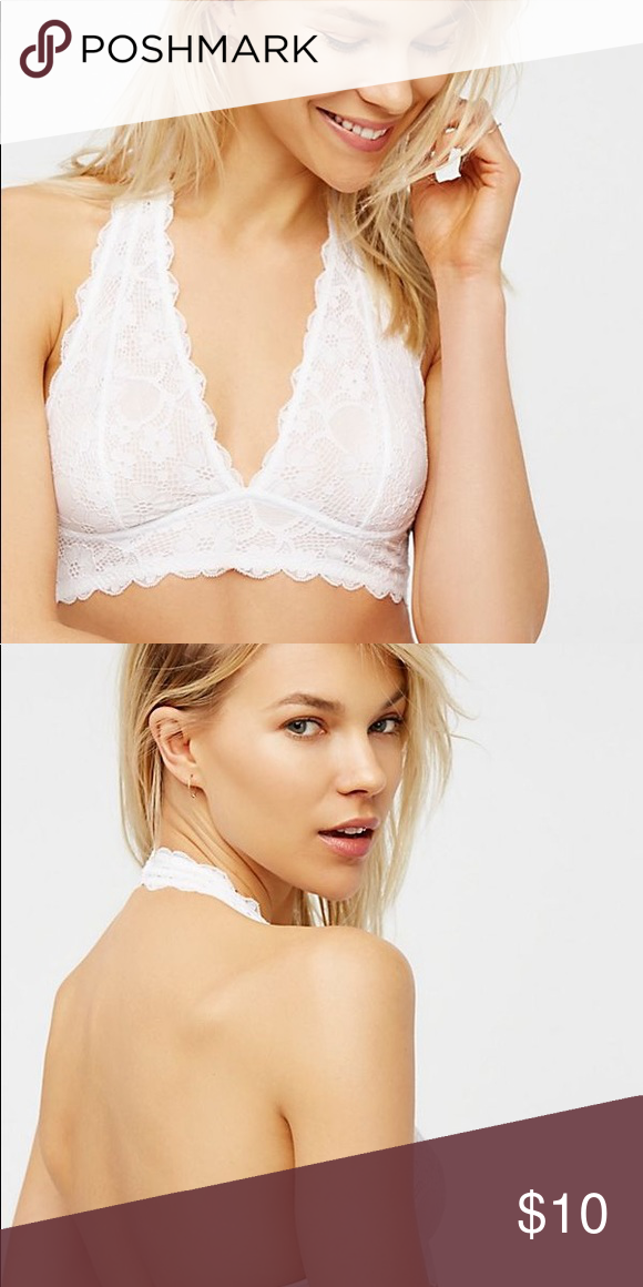 5f607208d28b6 Galloon lace bra free people White lace halter bra Free People Intimates    Sleepwear Bras