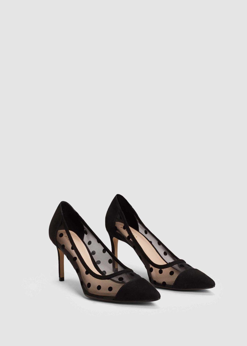 Zapato salón plumeti - Mujer   MANGO España