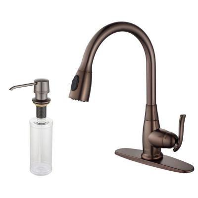 kraus single handle stainless steel high arc pull down sprayer rh za pinterest com