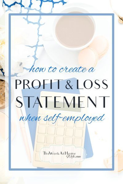 Profit And Loss Statement For Self Employed Magnificent How To Do A Profit And Loss Statement When You're Selfemployed  .