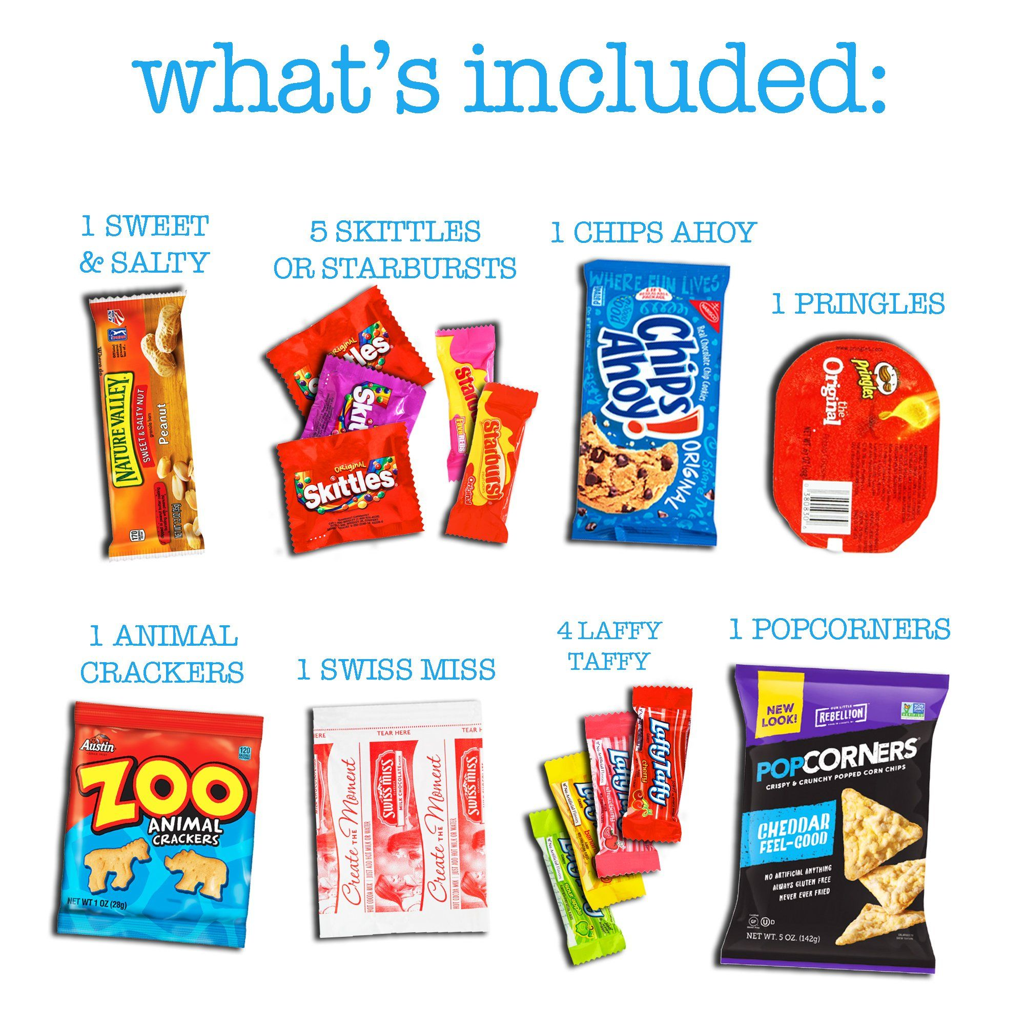 CollegeBox – Bulk Snacks Care Package 50 Count for