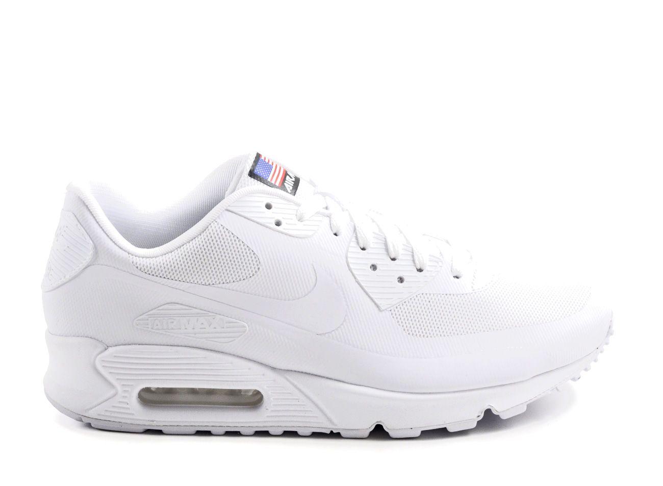 nike air max 90 hyperfuse qs white/white/black
