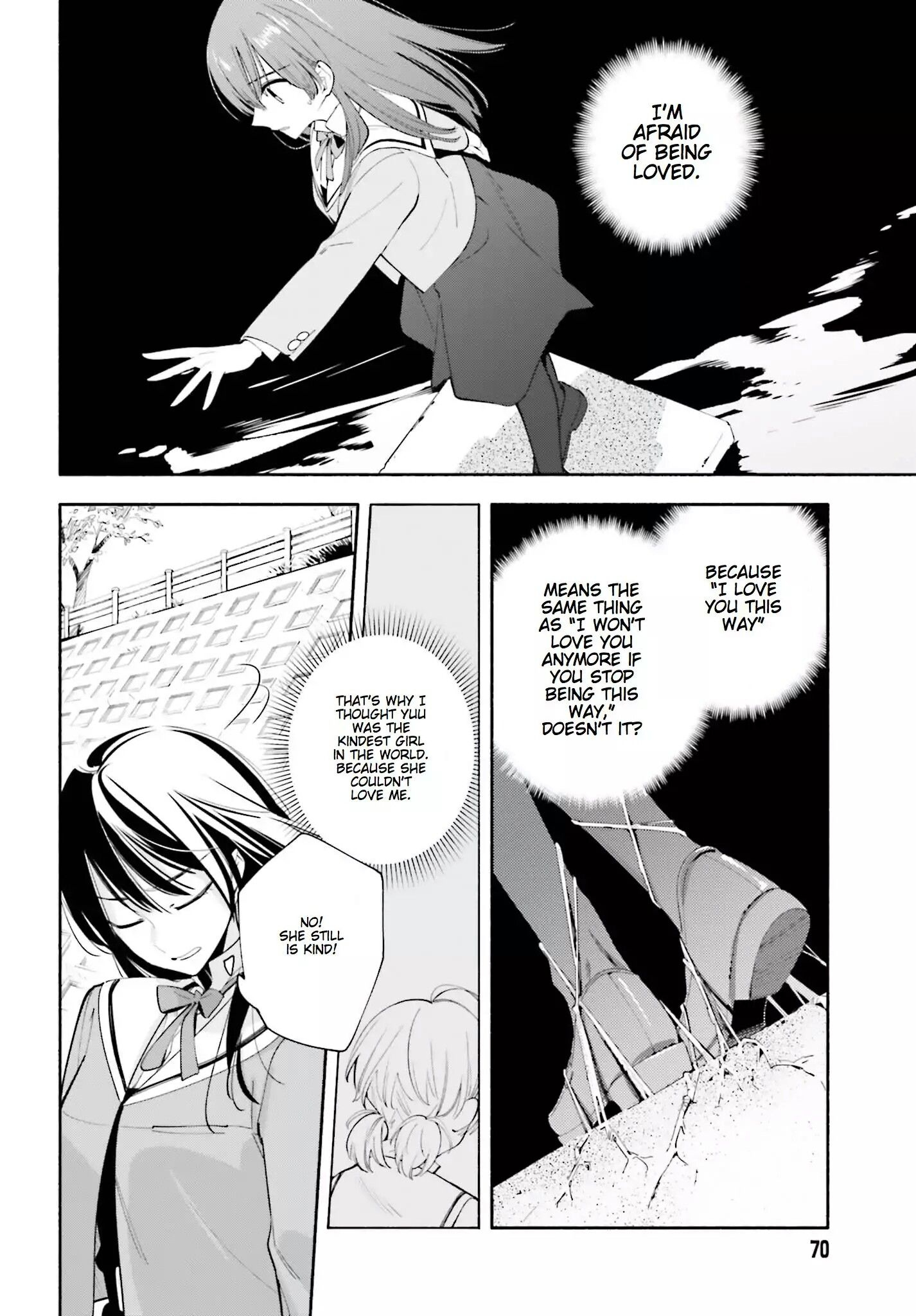 The Bound To The Ground Metaphor Bloom Into You Aesthetic Anime Manga Pages Anime Quotes