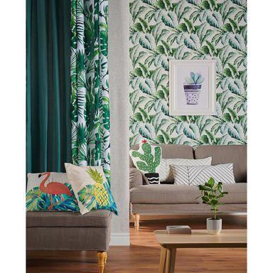Tapeta Green Leaf Tapety Na Sciane W Atrakcyjnej Cenie W Sklepach Leroy Merlin Home Decor Decor Printed Shower Curtain