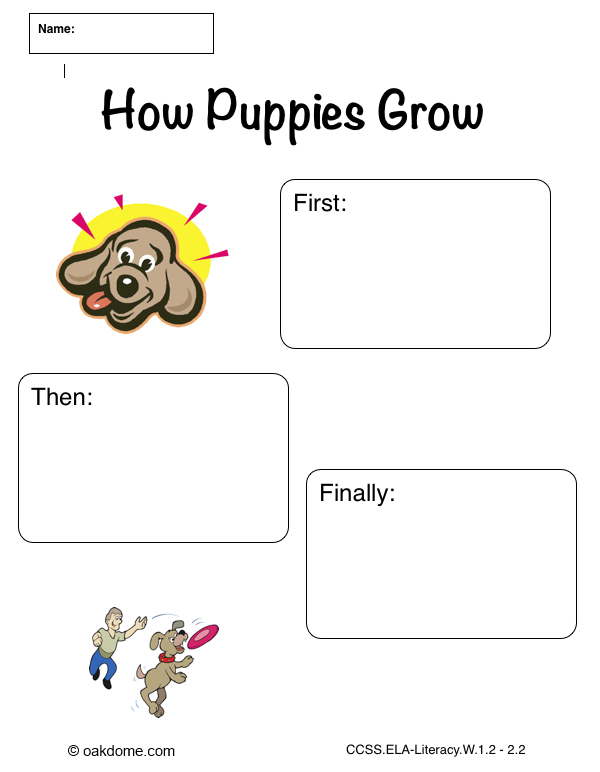 iPad Graphic Organizer How Puppies Grow - Plain (Common Core Aligned iPad Pages Templates): http://oakdome.com/k5/lesson-plans/iPad-lessons/ipad-common-core-graphic-organizer-informative-how-puppies-grow.php