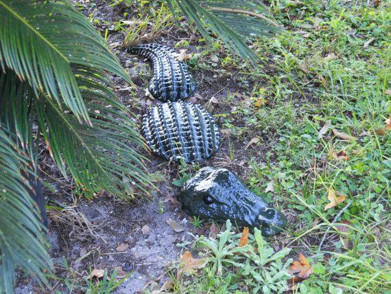 Delicieux 3pc Large Lifelike Alligator Garden Statue / Yard Art / Garden Decor /  Garden Stone READY TO SHIP!