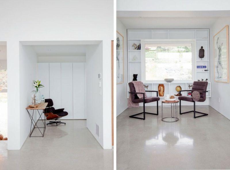 Interieur in Weiß und Marmor – Modernes Blockhaus Design
