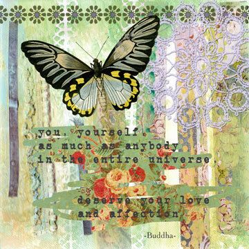 Inspirational Butterfly Collage Art Print by BethNadlerArt on Etsy ...