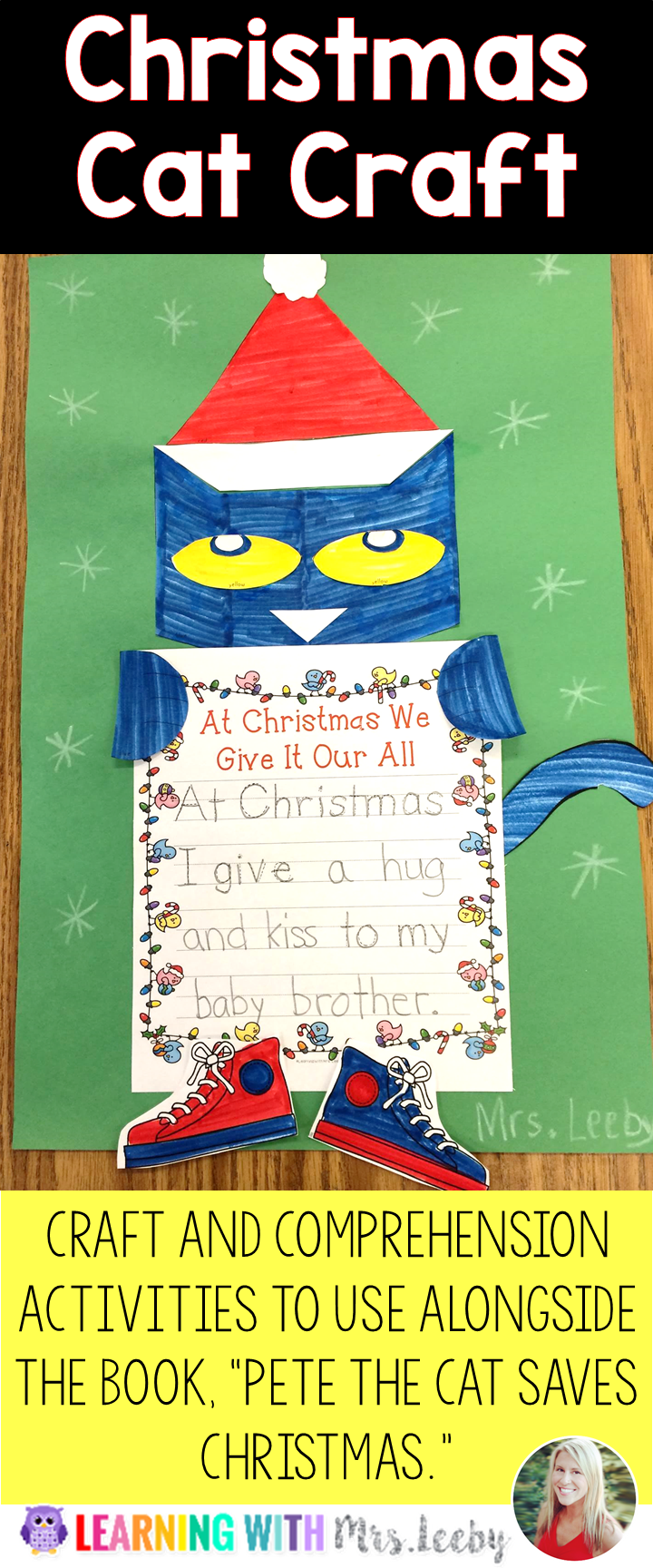Pete The Cat Saves Christmas Comprehension Activities K 1