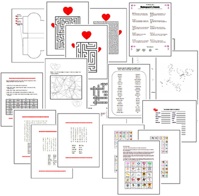 need lots of free valentines day printable games puzzles and crafts fast - Free Valentine Games