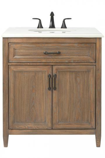Home Decorators Collection Walden 31 In W Vanity In Driftwood