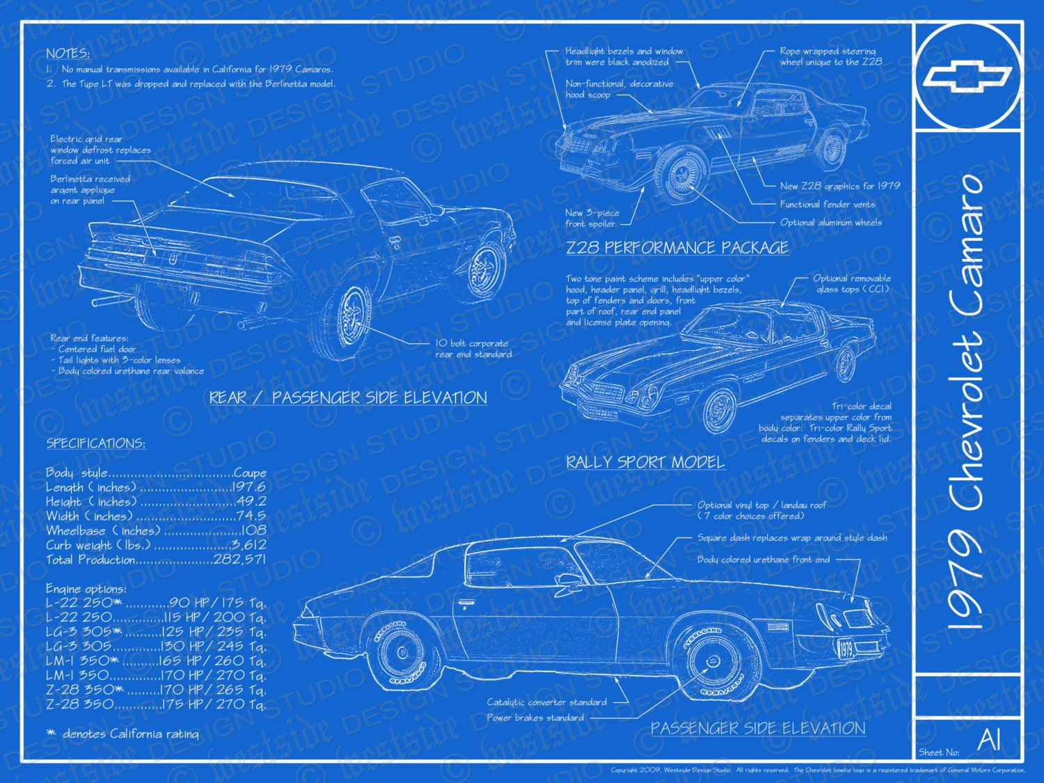 1979 Chevrolet Camaro Blueprint Poster 18x24 Jpeg Etsy In 2020 Chevrolet Camaro Camaro Blueprints