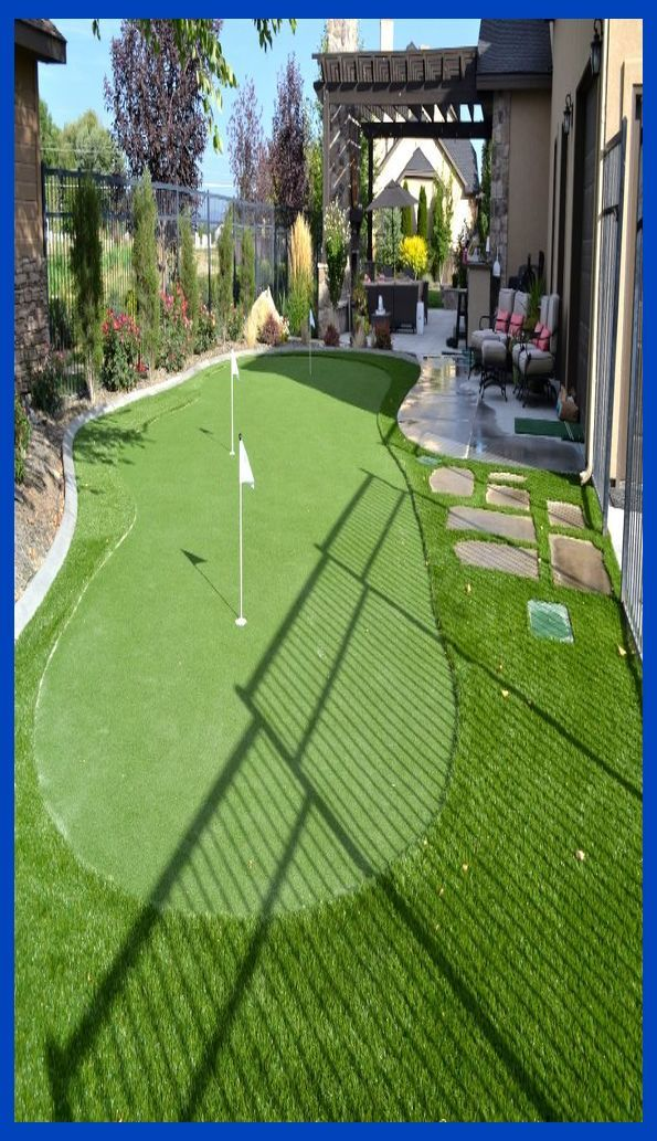 A ProGreen's putting green turf system makes practicing ...