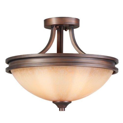 Patriot lighting roswell 14 75 sovereign bronze 2 light semi flushmount at menards