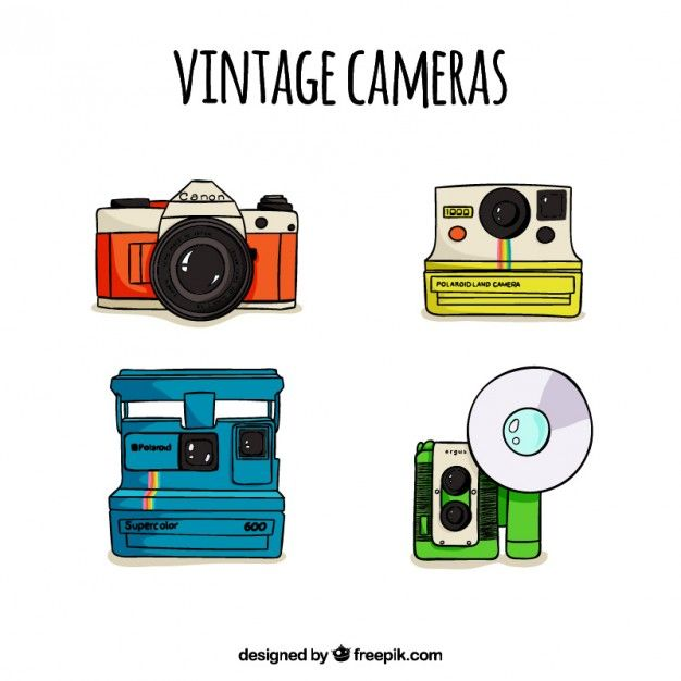 Polaroid Cameras Vector Hand Clipart Png Drawn Images Nice Charts Handwriting Drawings Type