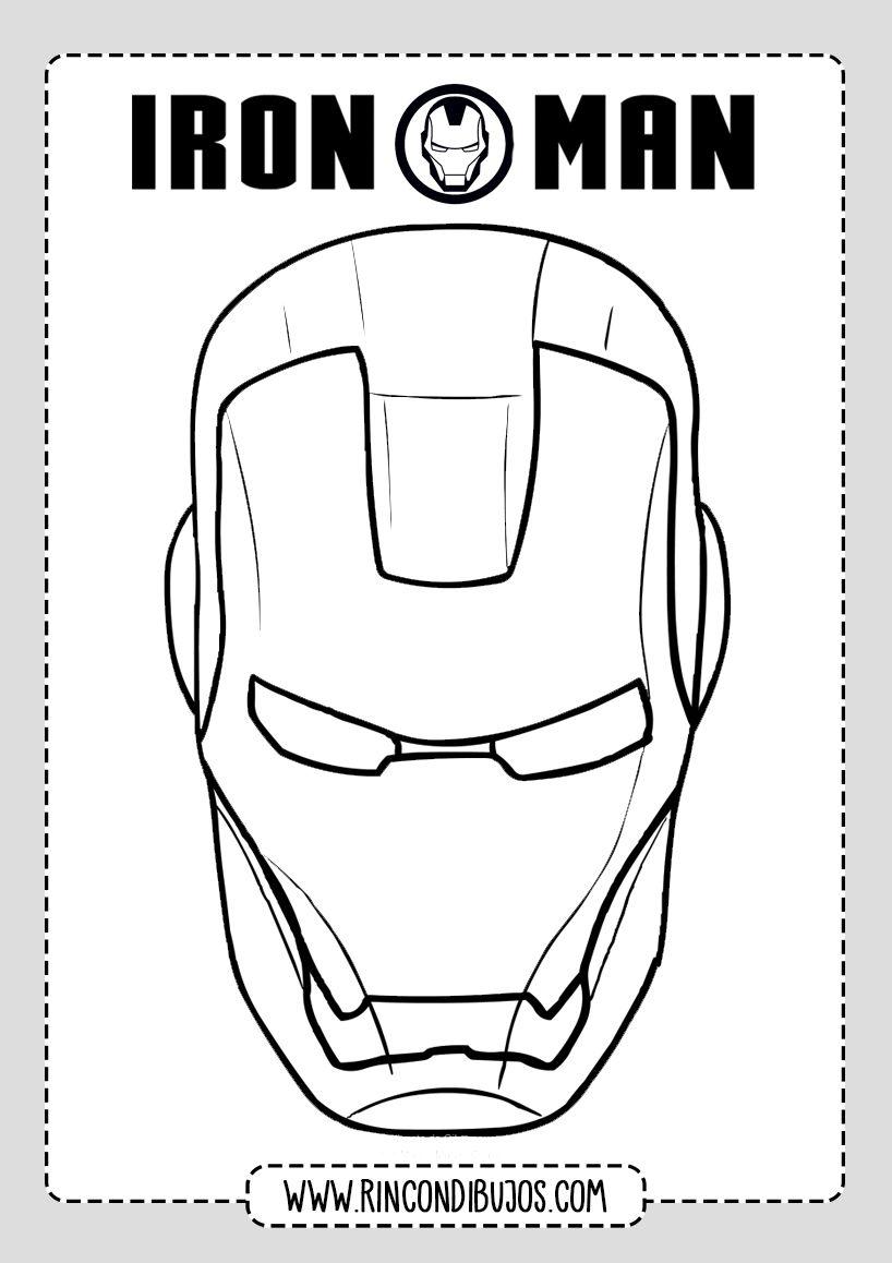 Dibujo Colorear Cabeza De Iron Man Rincon Dibujos Man Dibujos Ironman Dibujo