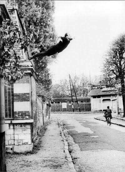 Le Saut Dans Le Vide : (Leap, Void);, Photomontage, Shunk, Kender, Performance, Klein, Gentil…, Klein,, Blue,