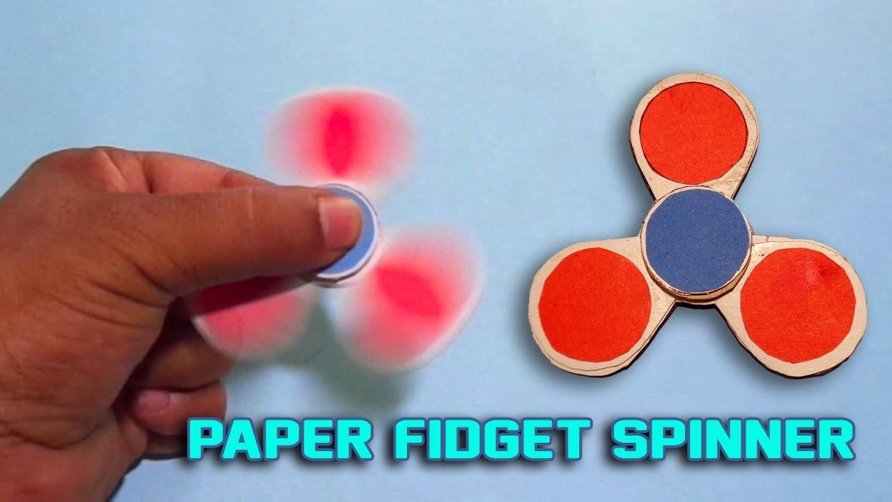 Diy paper fidget spinner how to make an origami fidget