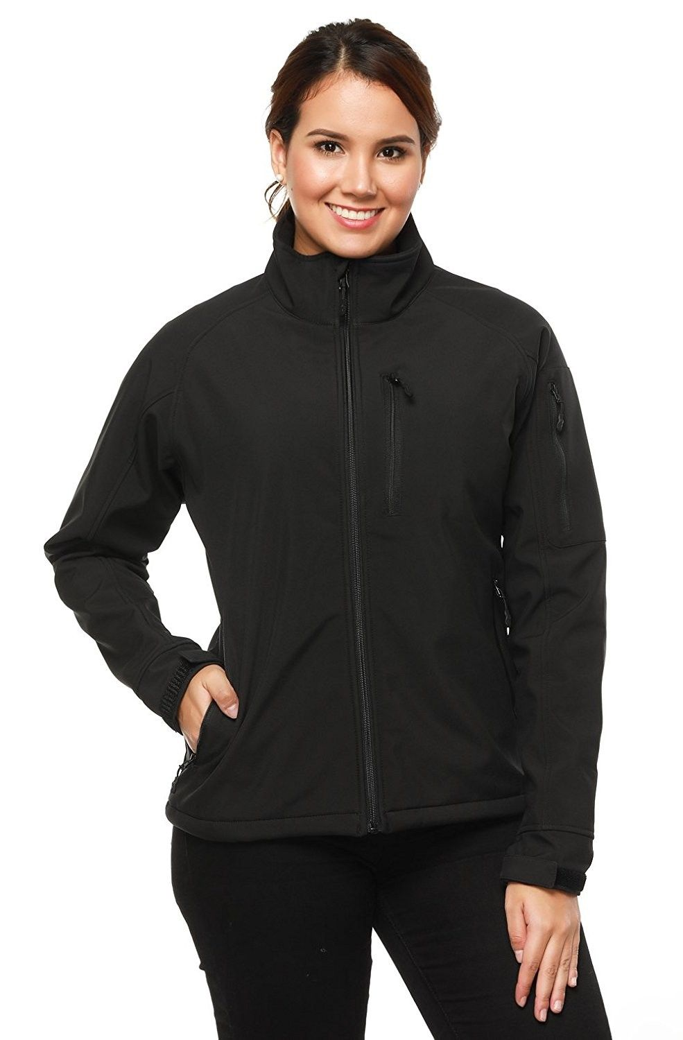 Women S Clothing Coats Jackets Vests Active Performance Insulated Shells Mier Women S Softshell Outdoor Front Z Zip Jackets Women Clothes Sale Jackets [ 1500 x 985 Pixel ]