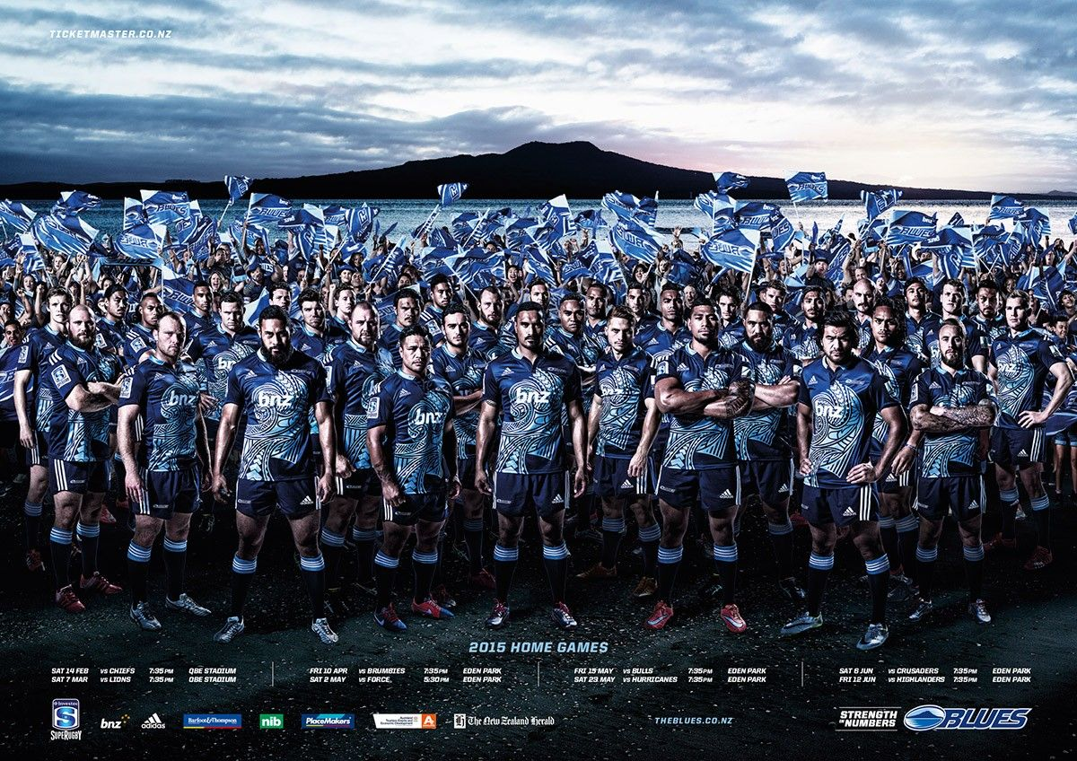 Auckland Blues Team Blues Team Blue Rugby Union