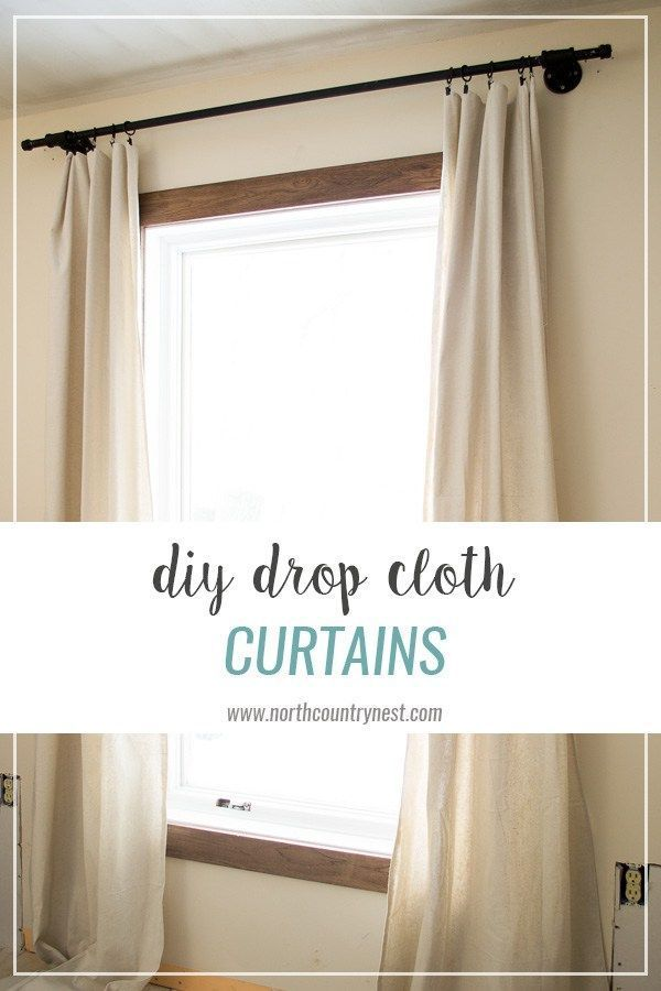 How To Make Drop Cloth Curtains Diy Curtains Drop Cloth