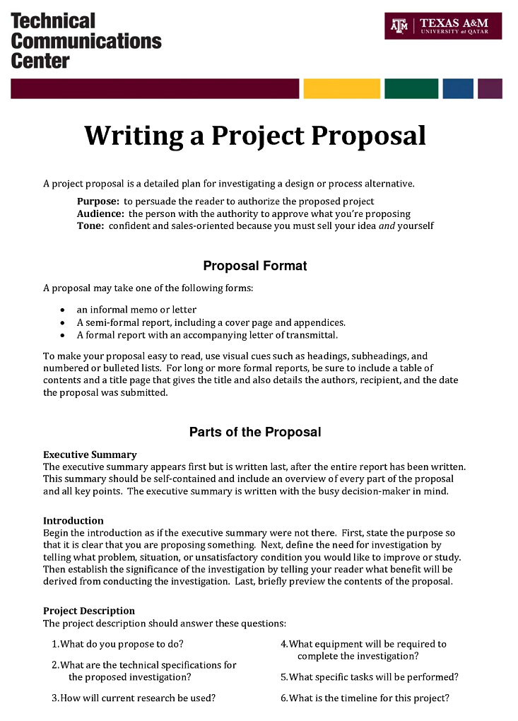 Grant Writing  Example Of Project Proposal Used
