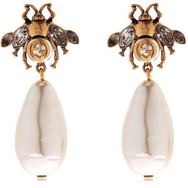 d499ec80419 Gucci Women Bee Imitation Pearl Earrings (6