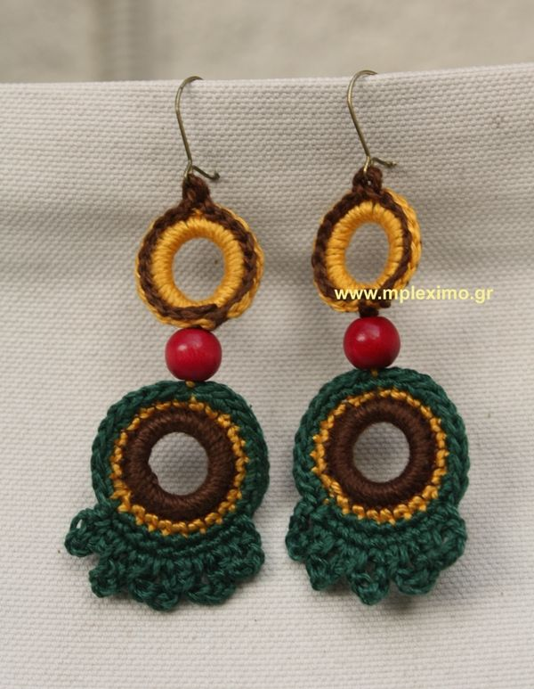 boho crocheted earrings | Collares | Pinterest | Traje flamenca ...