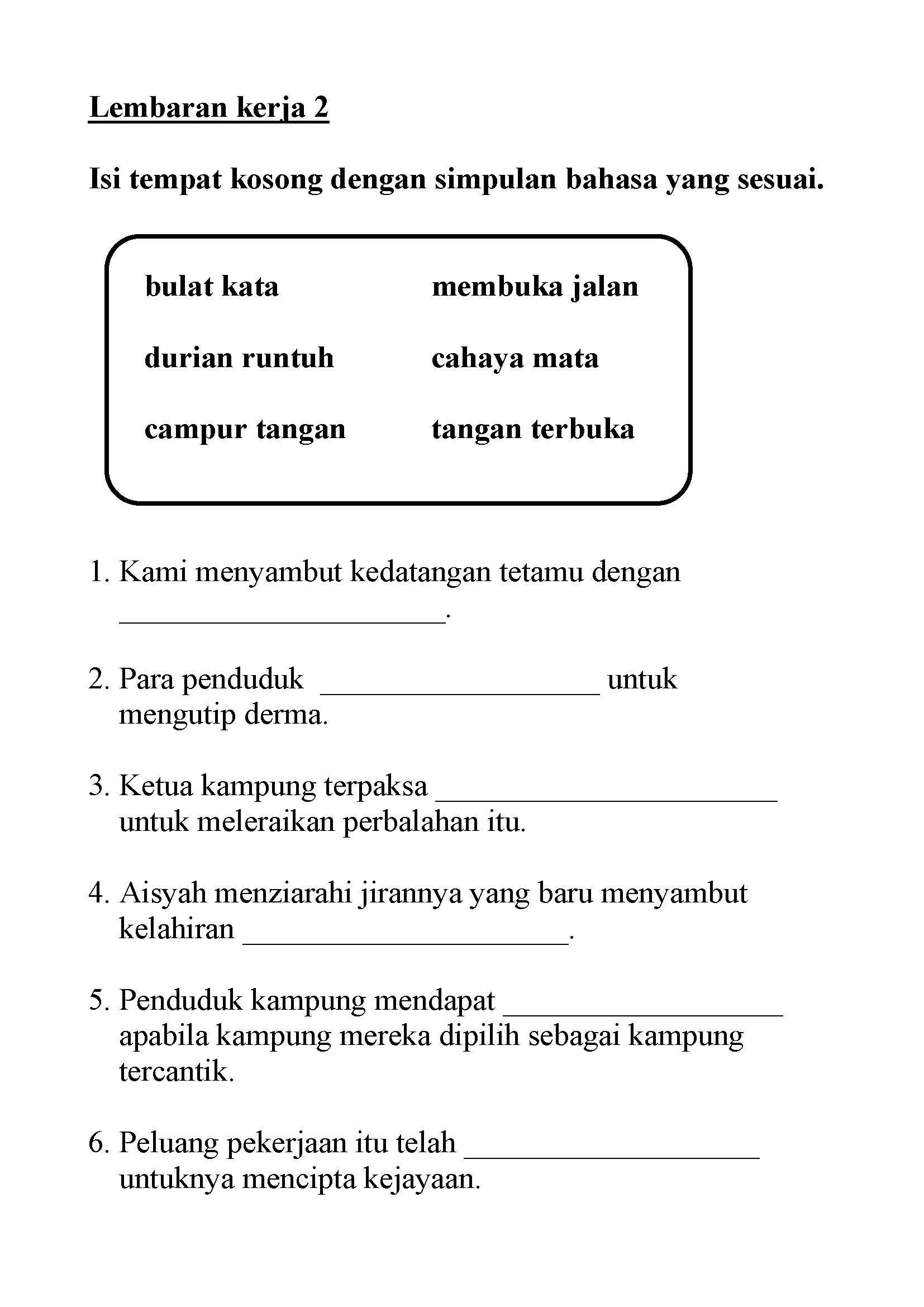 Image Result For Latihan Kata Adjektif Tahun 2