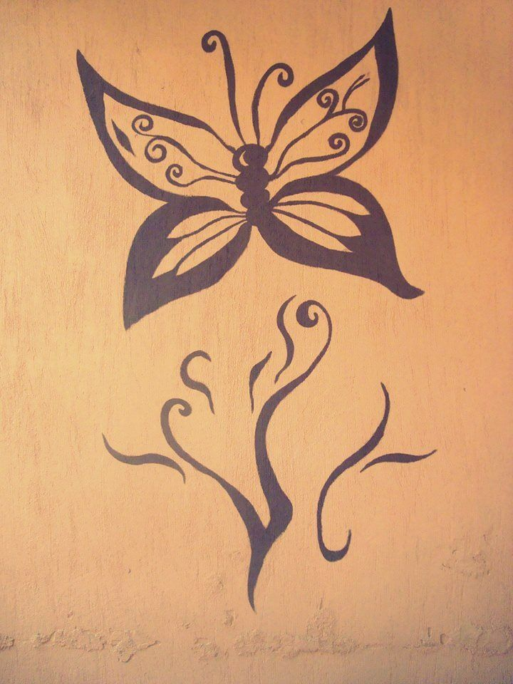 Butterfly Wall Painting Outside Butterfly Painting Wall