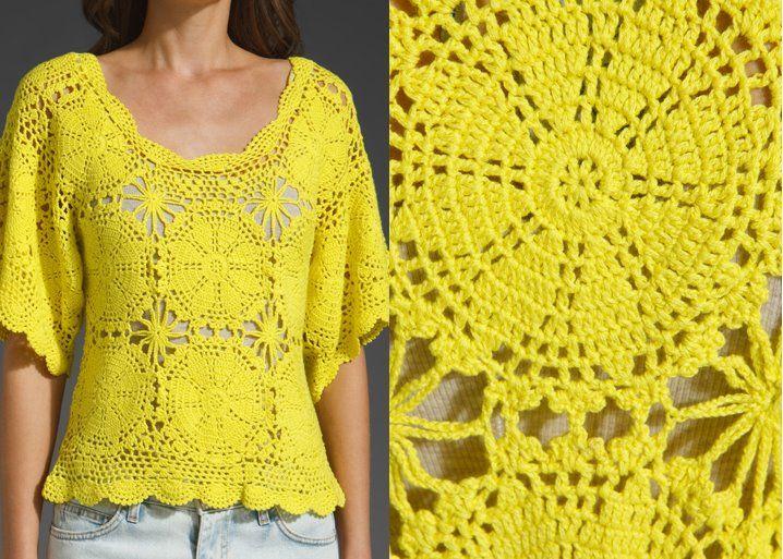 Todo para Crear ... : blusas y remeras en crochet