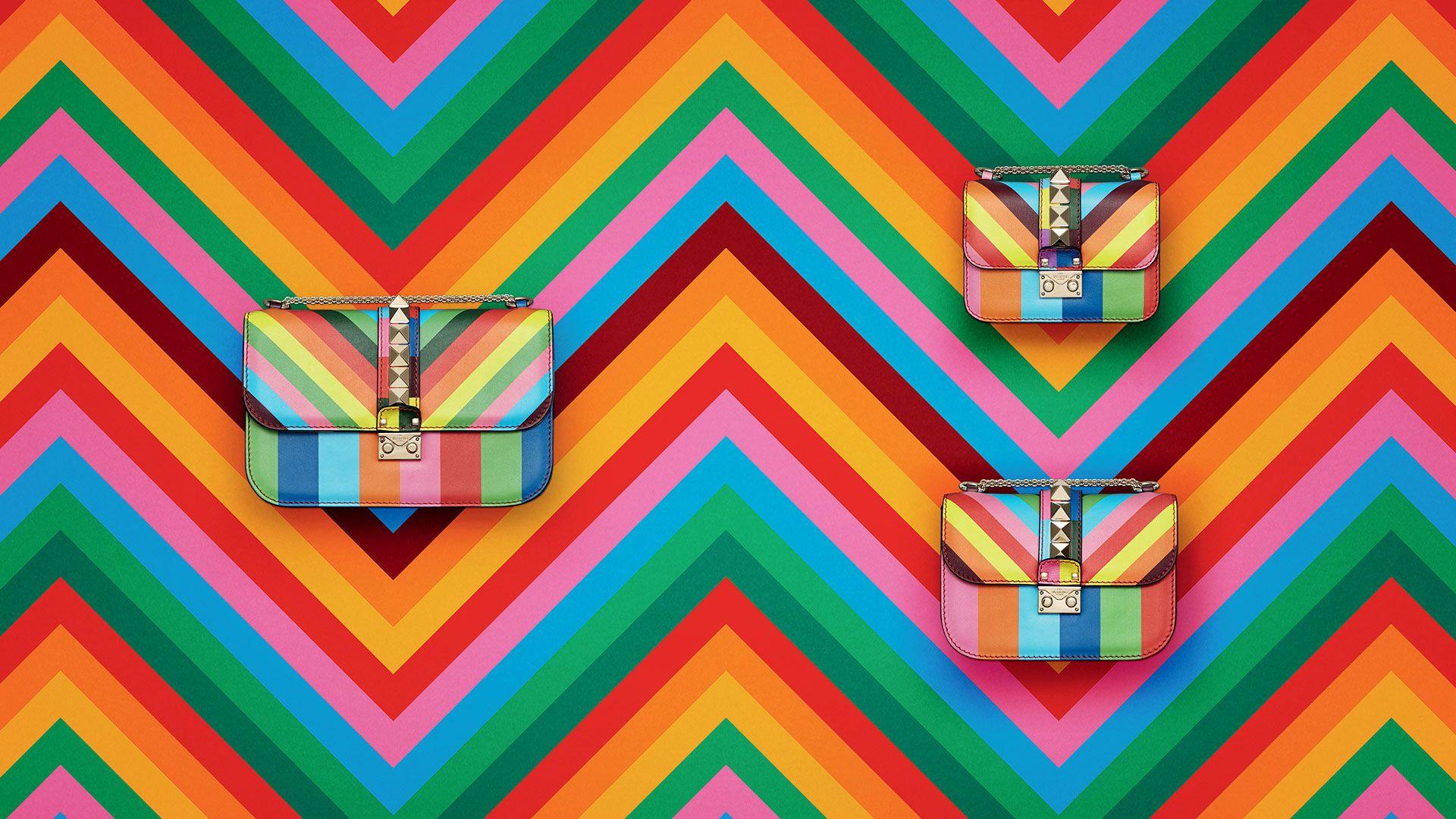 cb7c0c437387 Valentino RockStud Multicolor Shoulder Bag
