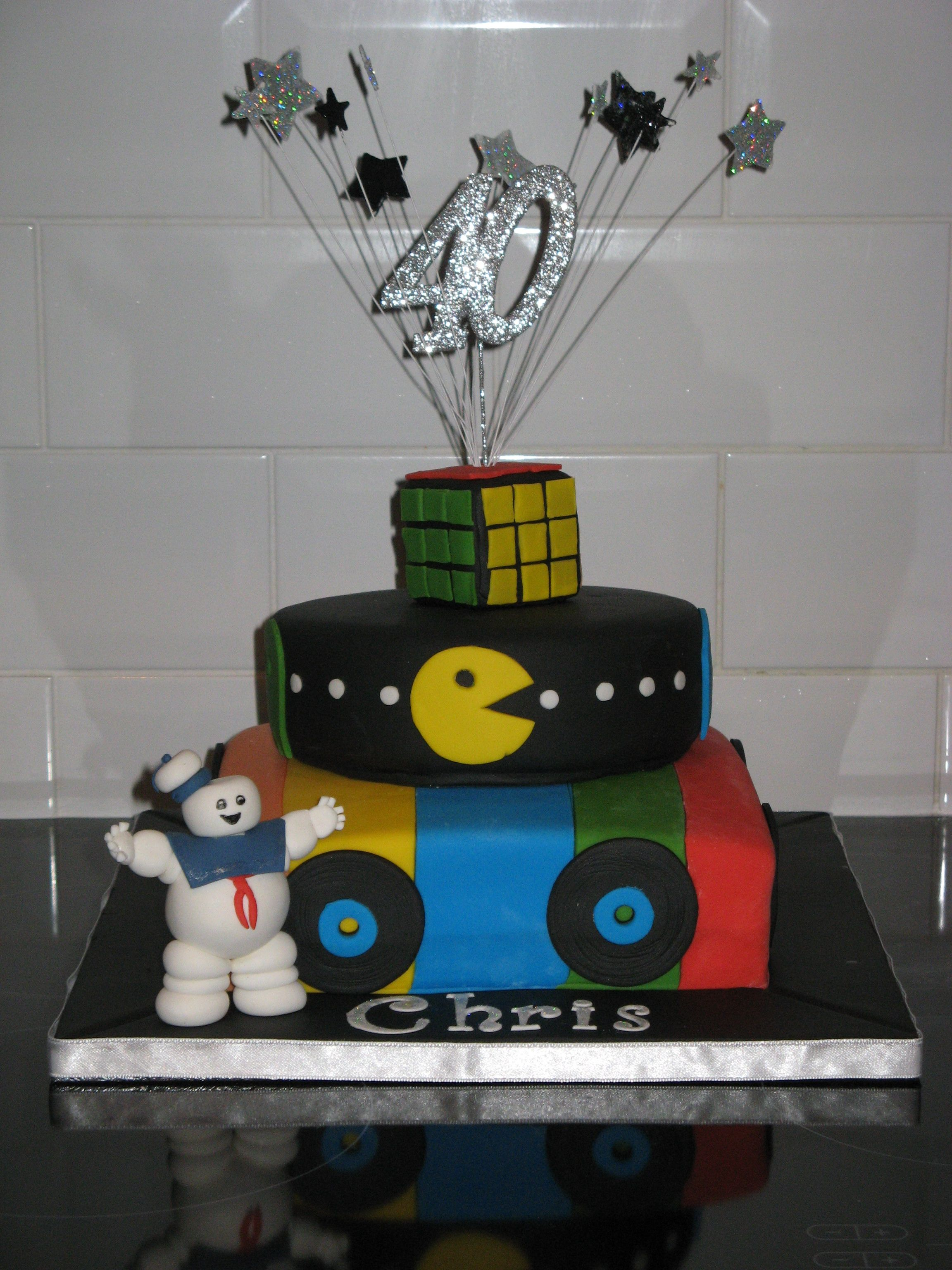 Birthday Cakes For My Man ~ Th birthday cake tier s themed made for my husband complete with