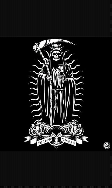 Santa Muerte Art Stuff En 2019 Santa Muerte Skull Art Et Reaper