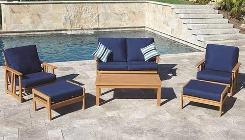 Backyard Creations Timberland 7 Piece Deep Seating Patio Set At