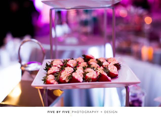 Delicious appetizers for a Grand Ballroom Reception at Hilton Lexington Downtown