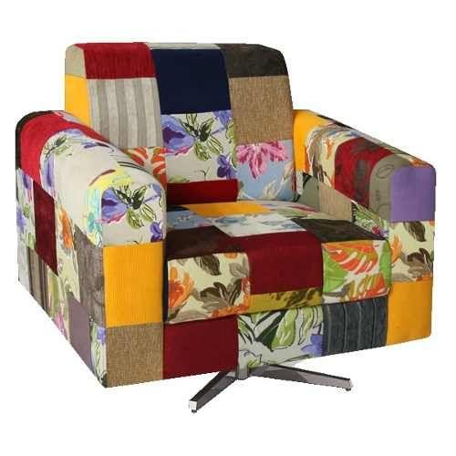 poltrona apollo patchwork base giratória sala recepção casa R$ 599 MercaoLivre