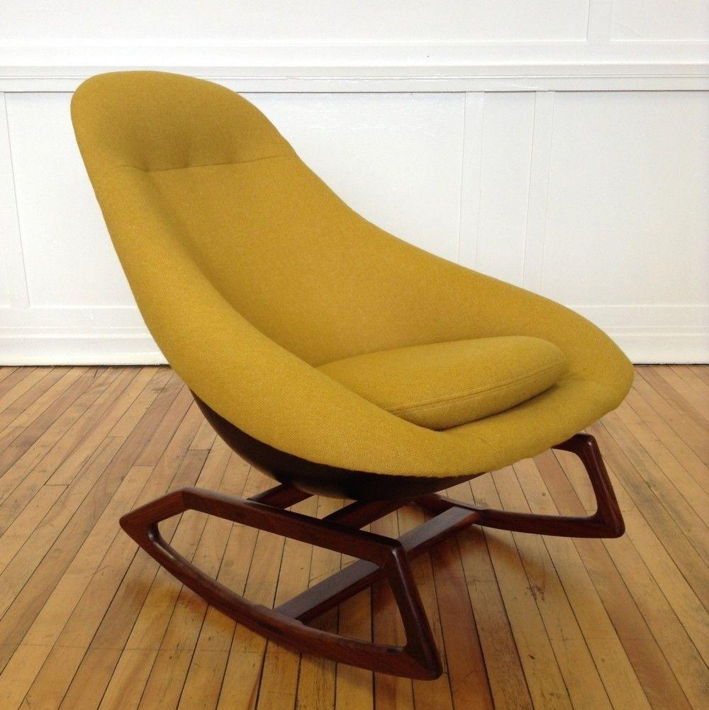 Rare midcentury us british lurashell gemini rocking chair mid