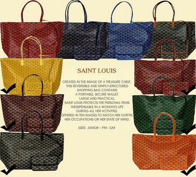 Goyard St Louis Tote Available At Bergdorf Or Barneys