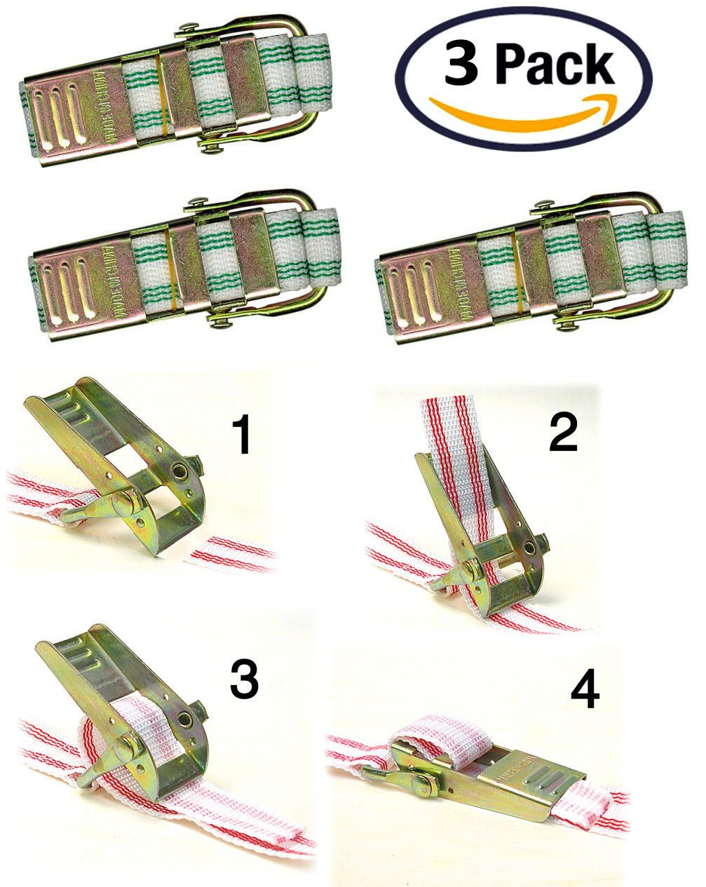 Green Creative Hobbies BST4 Banding Straps For Plaster Molds And Other Banding Applications 4 Feet Long Pack of 3 Straps