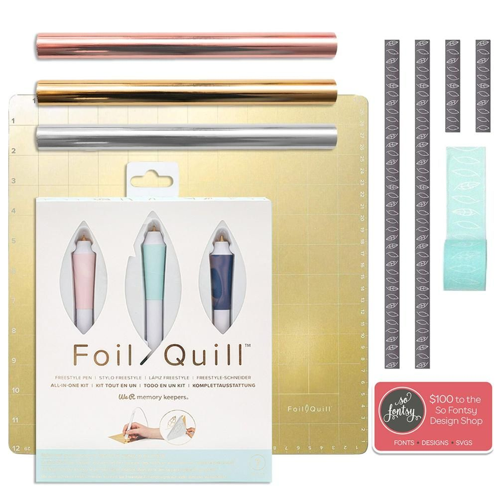 Foil Quill Freestyle Magnetic Mat Bundle 3 Hand Quills Foils Tape Design Card Quilling Paper Quilling Card Design